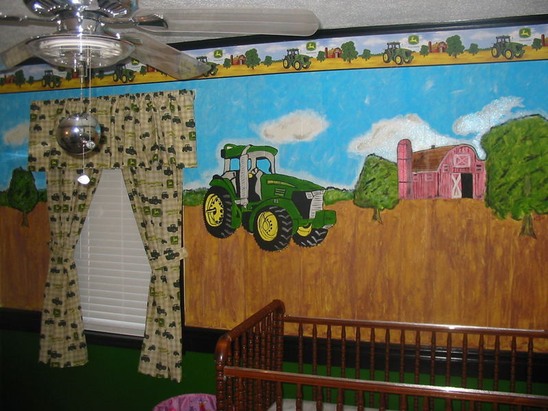 Custom wall murals and cut vinyl decals for interior walls